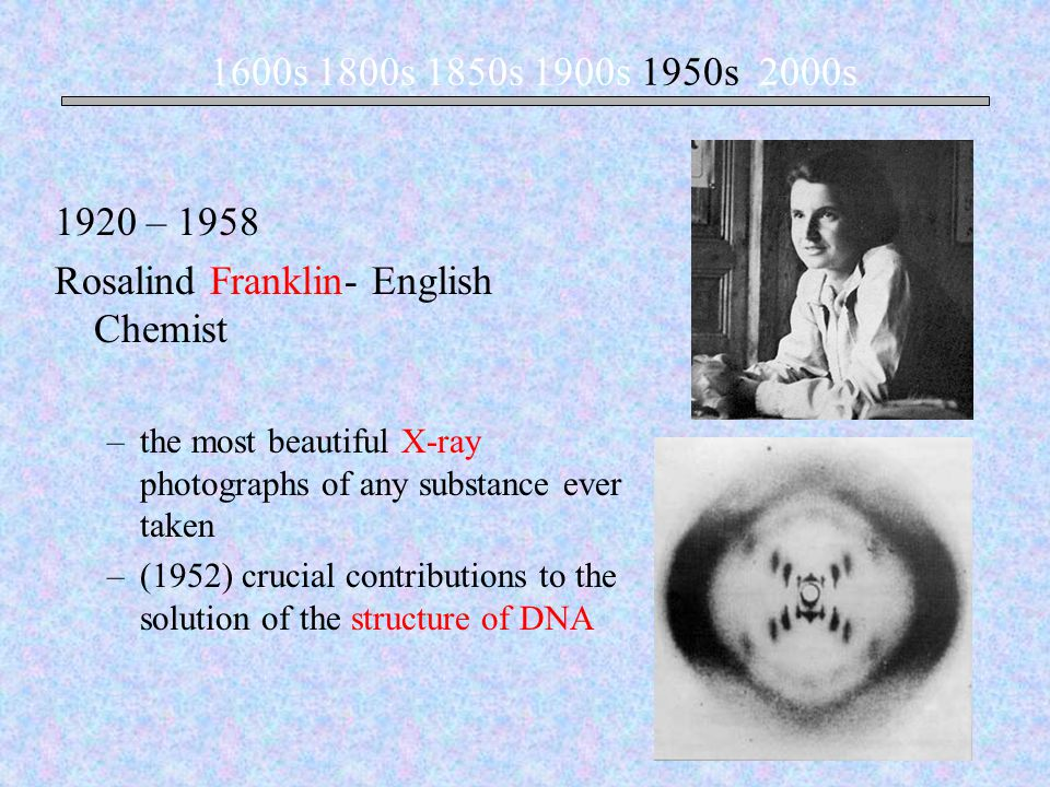 Rosalind Franklin- English Chemist