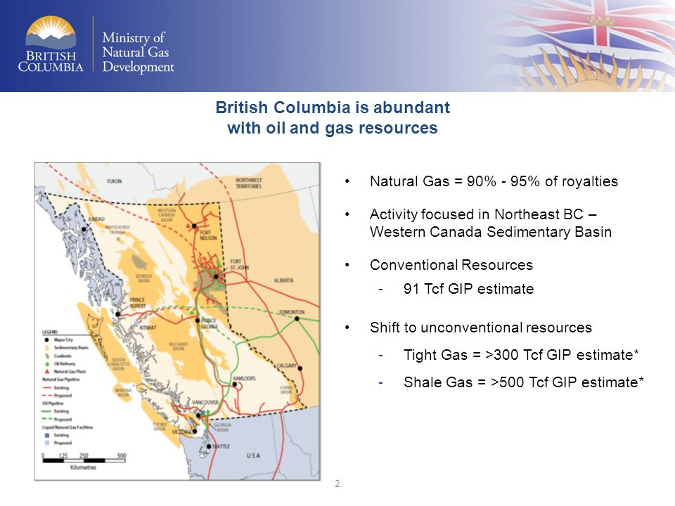 British Columbia is abundant with oil and gas resources