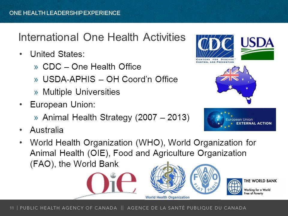 International One Health Activities