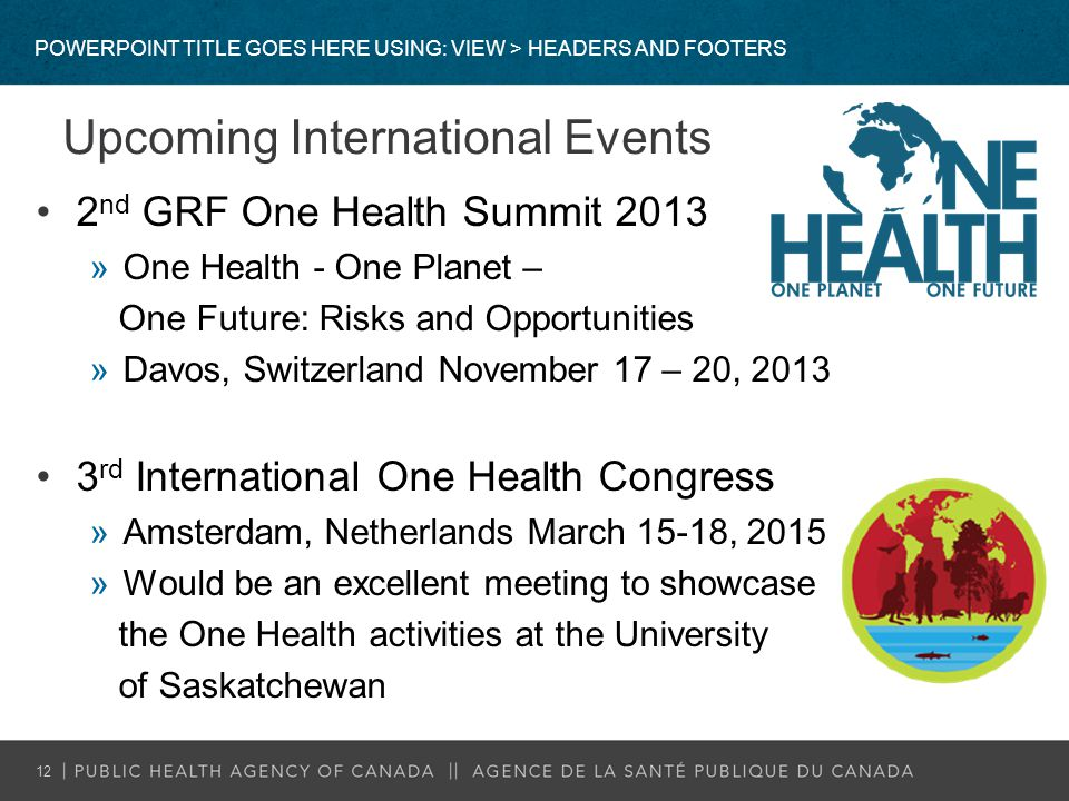 Upcoming International Events