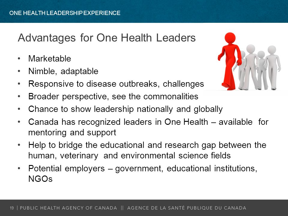 Advantages for One Health Leaders