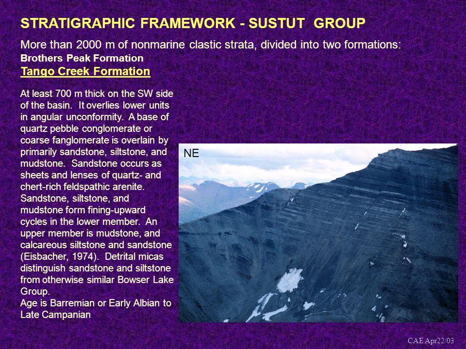 STRATIGRAPHIC FRAMEWORK - SUSTUT GROUP