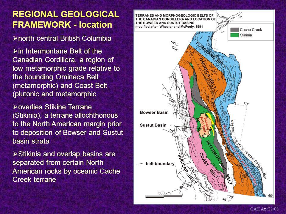 REGIONAL GEOLOGICAL FRAMEWORK - location