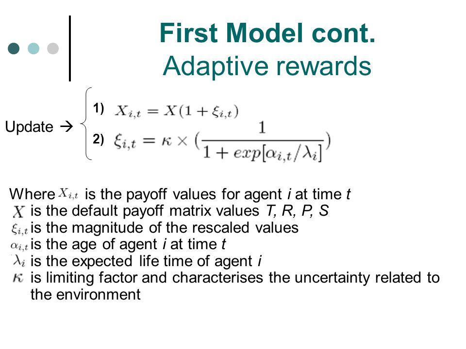 First Model cont. Adaptive rewards