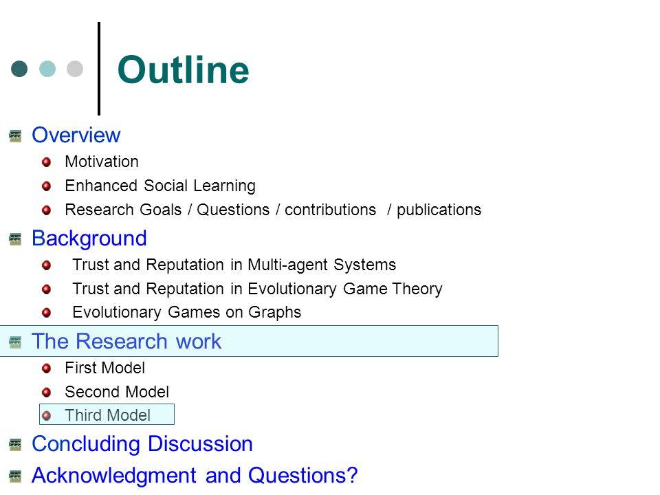Outline Overview Background The Research work Concluding Discussion