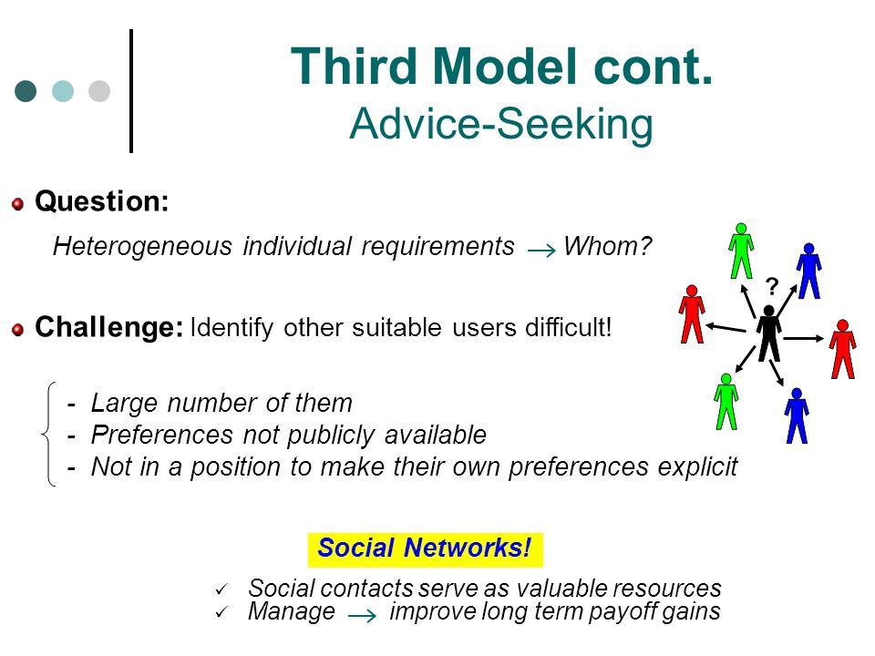 Third Model cont. Advice-Seeking
