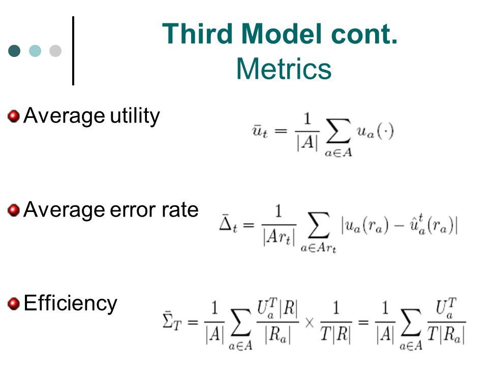 Third Model cont. Metrics