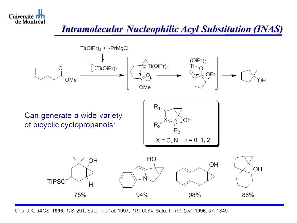 Intramolecular Nucleophilic Acyl Substitution (INAS)