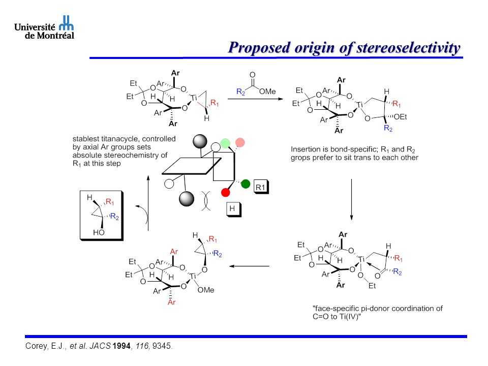 Proposed origin of stereoselectivity