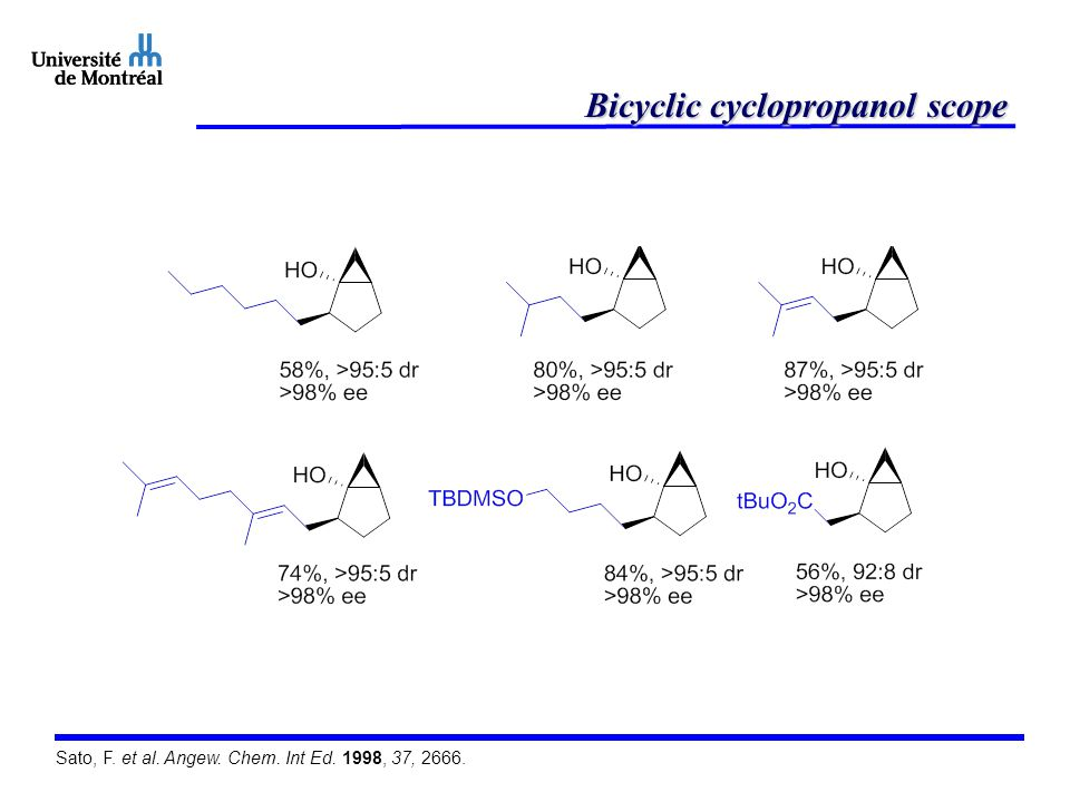 Bicyclic cyclopropanol scope