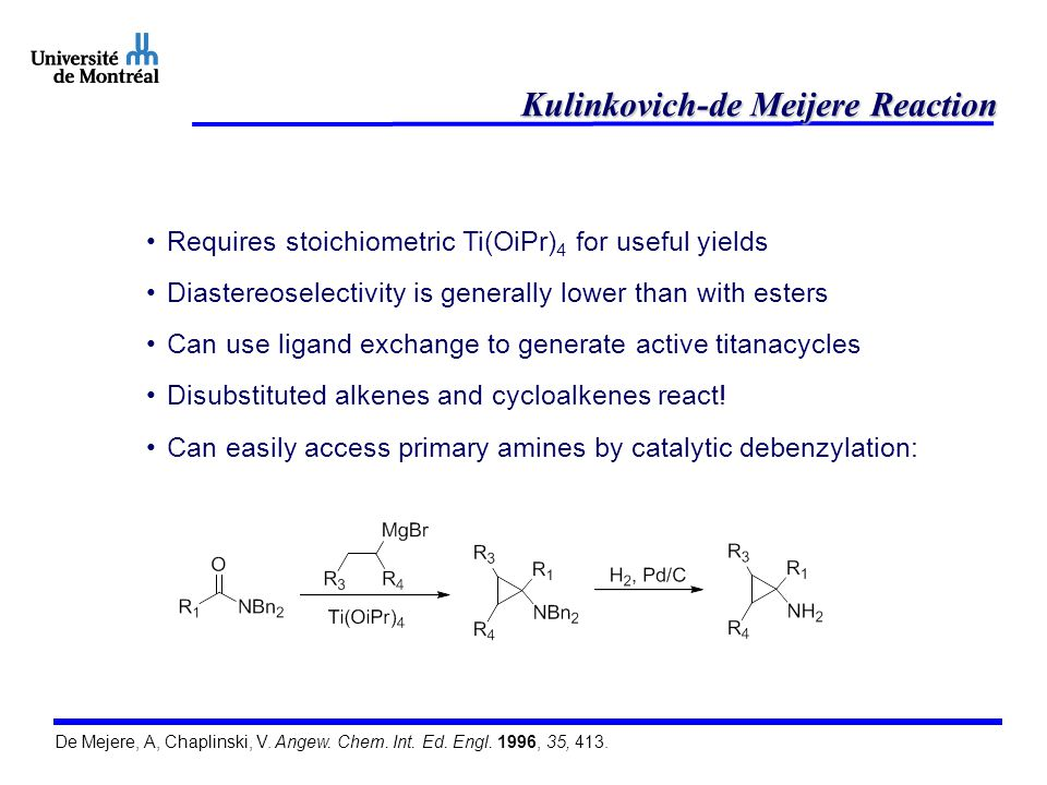Kulinkovich-de Meijere Reaction