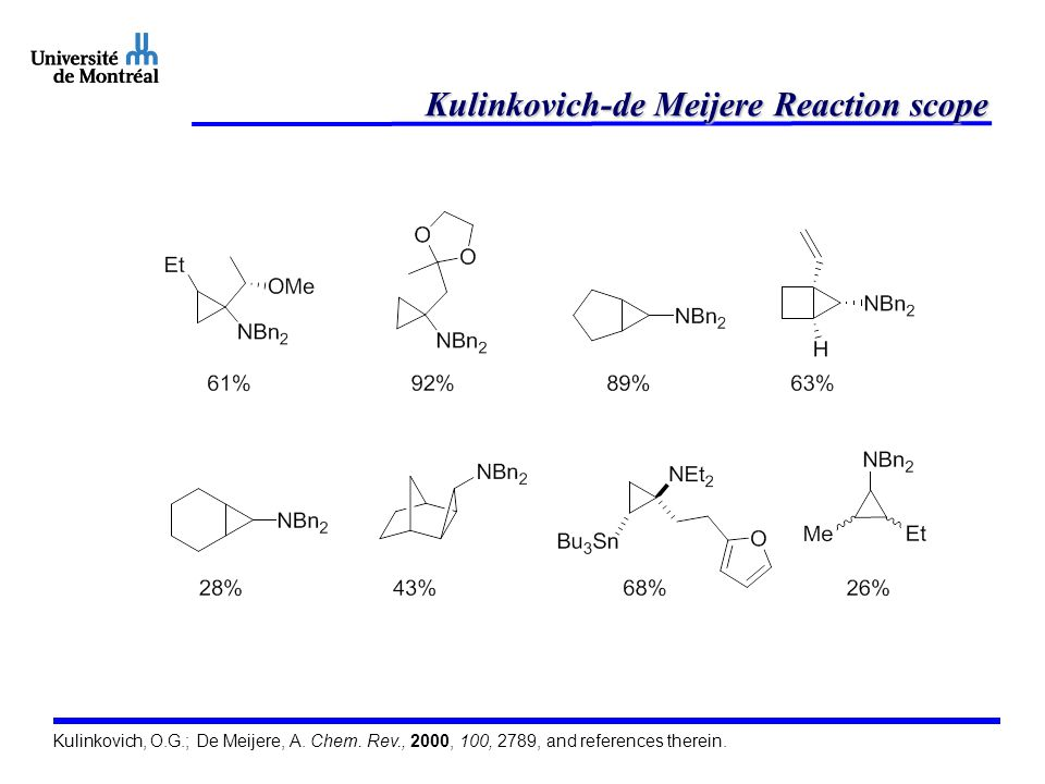 Kulinkovich-de Meijere Reaction scope