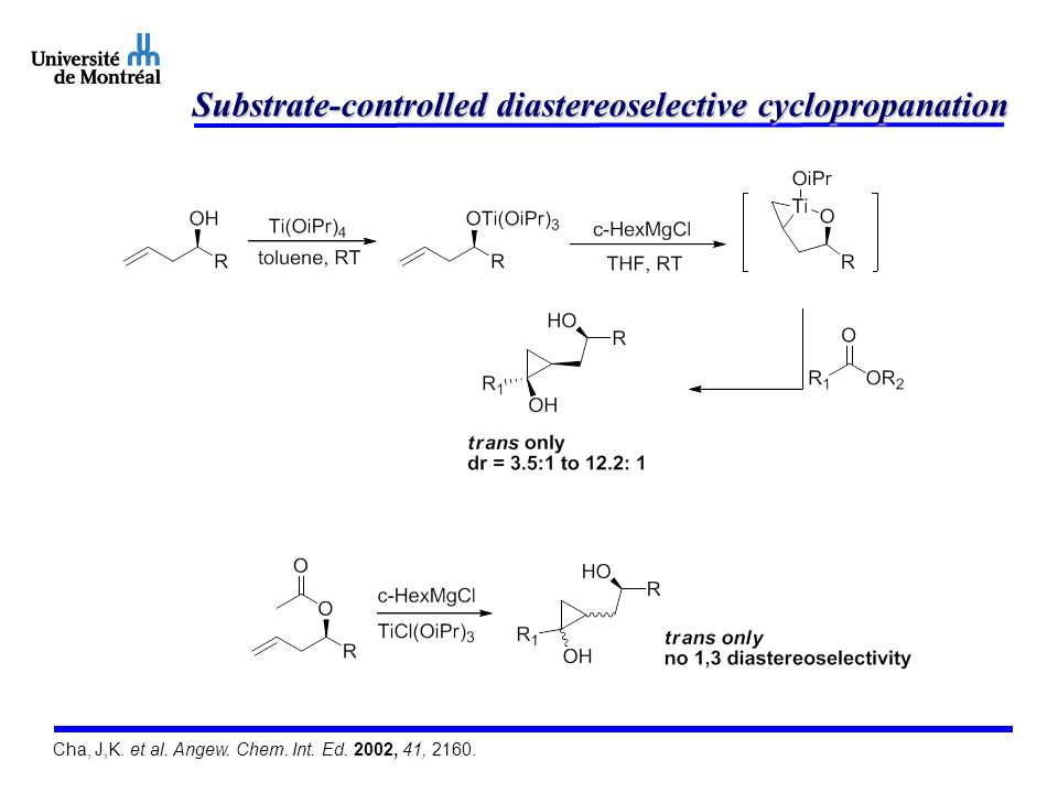Substrate-controlled diastereoselective cyclopropanation