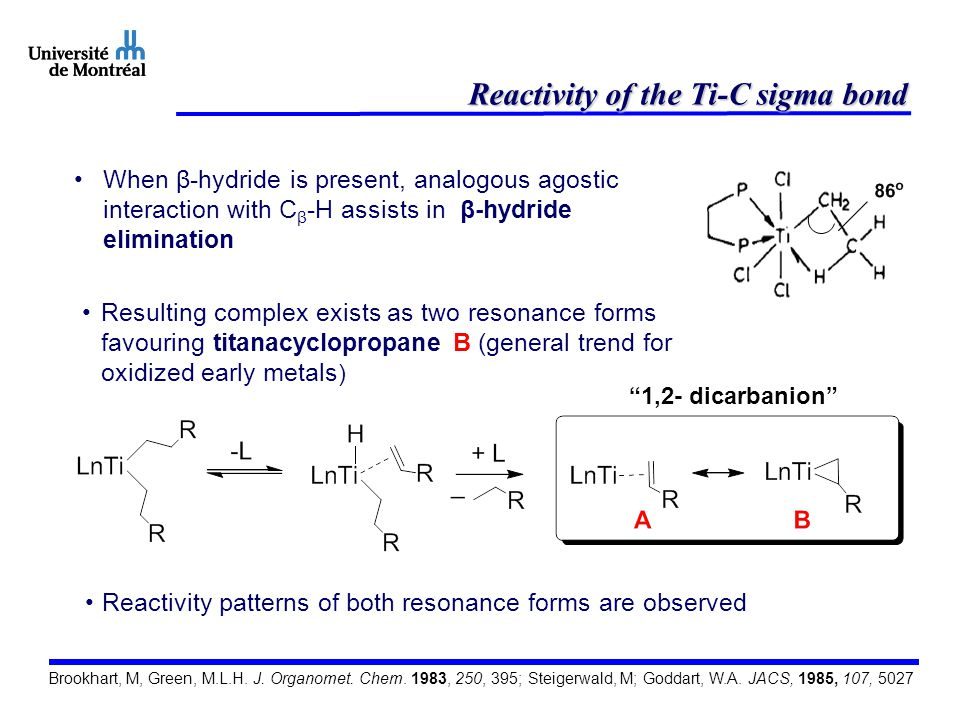 Reactivity of the Ti-C sigma bond