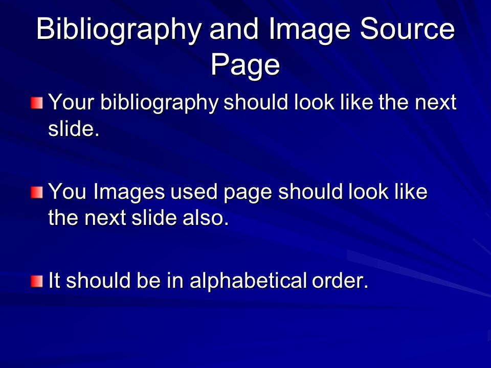 Bibliography and Image Source Page