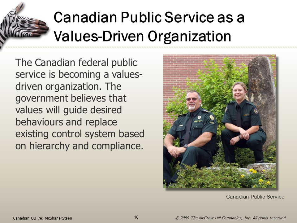 Canadian Public Service as a Values-Driven Organization