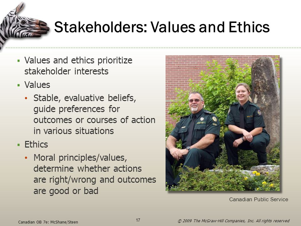 Stakeholders: Values and Ethics