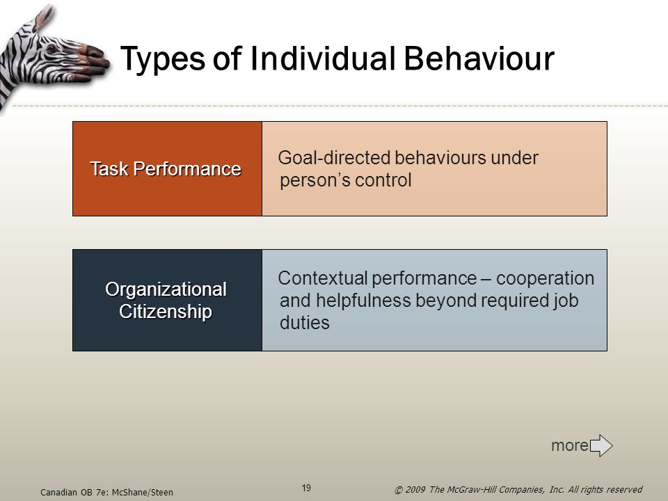 Types of Individual Behaviour