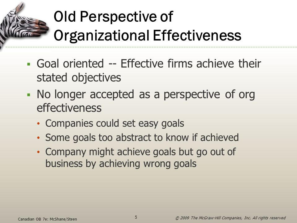 Old Perspective of Organizational Effectiveness