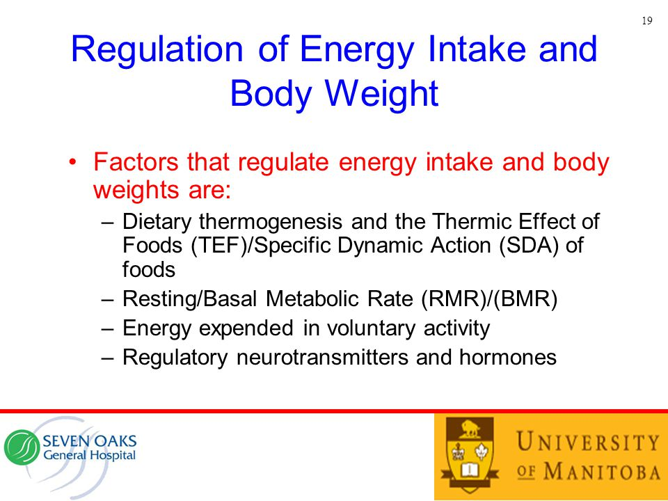 Regulation of Energy Intake and Body Weight
