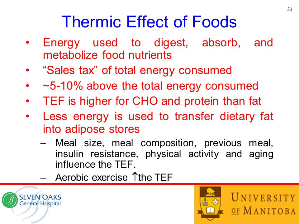 Thermic Effect of Foods