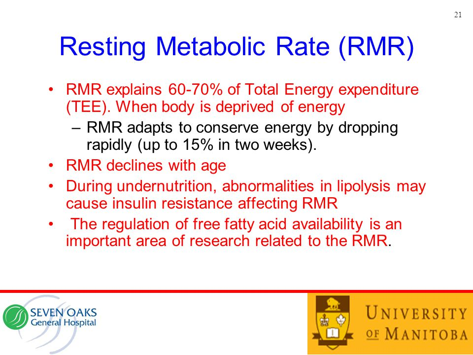 Resting Metabolic Rate (RMR)