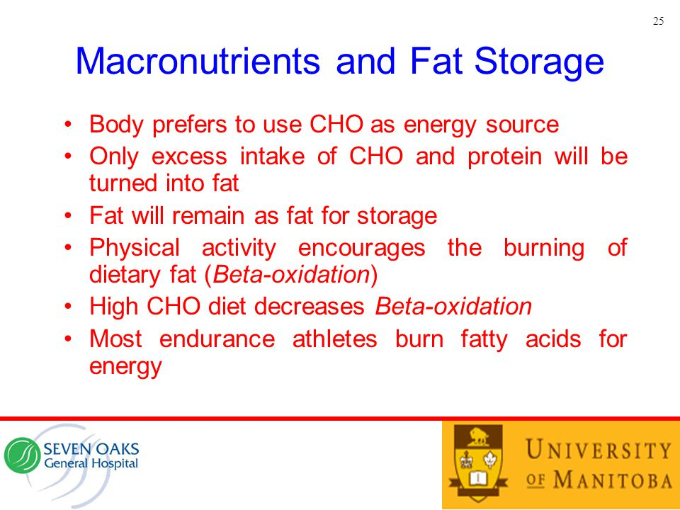 Macronutrients and Fat Storage