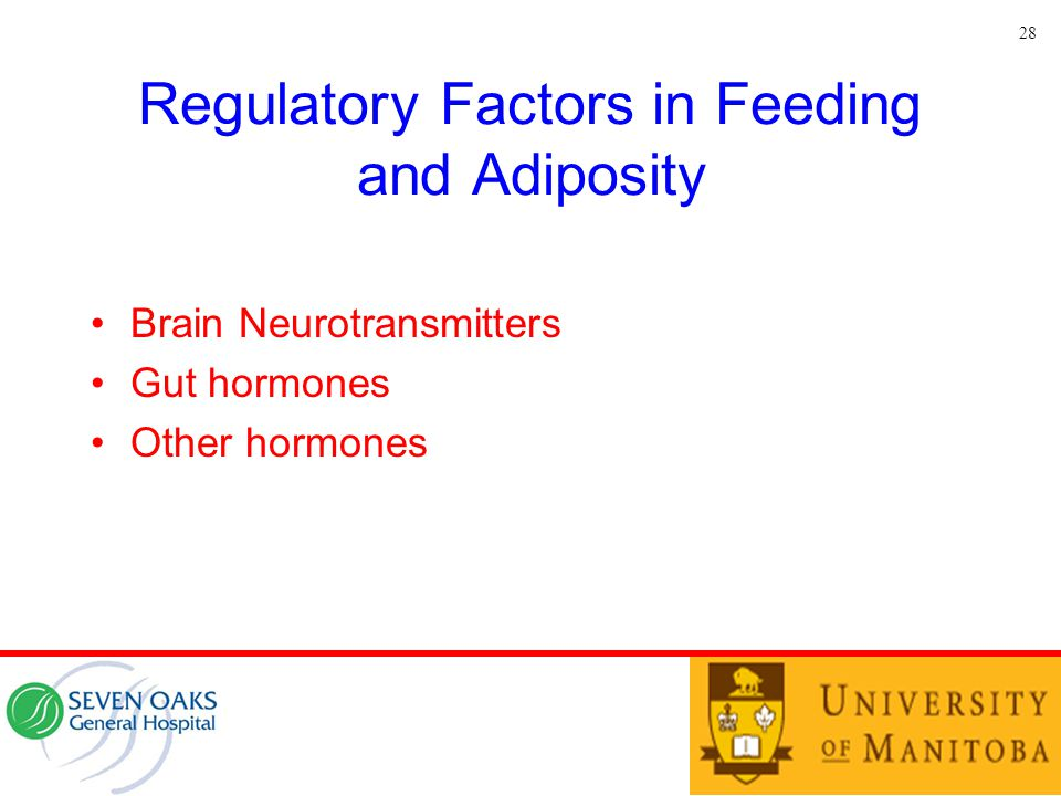 Regulatory Factors in Feeding and Adiposity