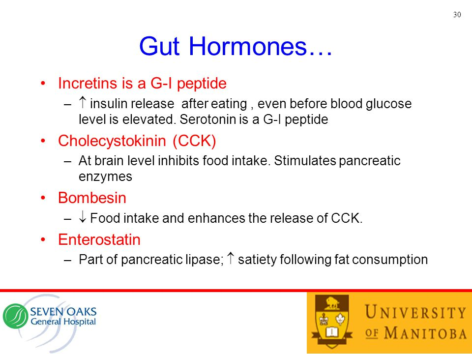 Gut Hormones… Incretins is a G-I peptide Cholecystokinin (CCK)