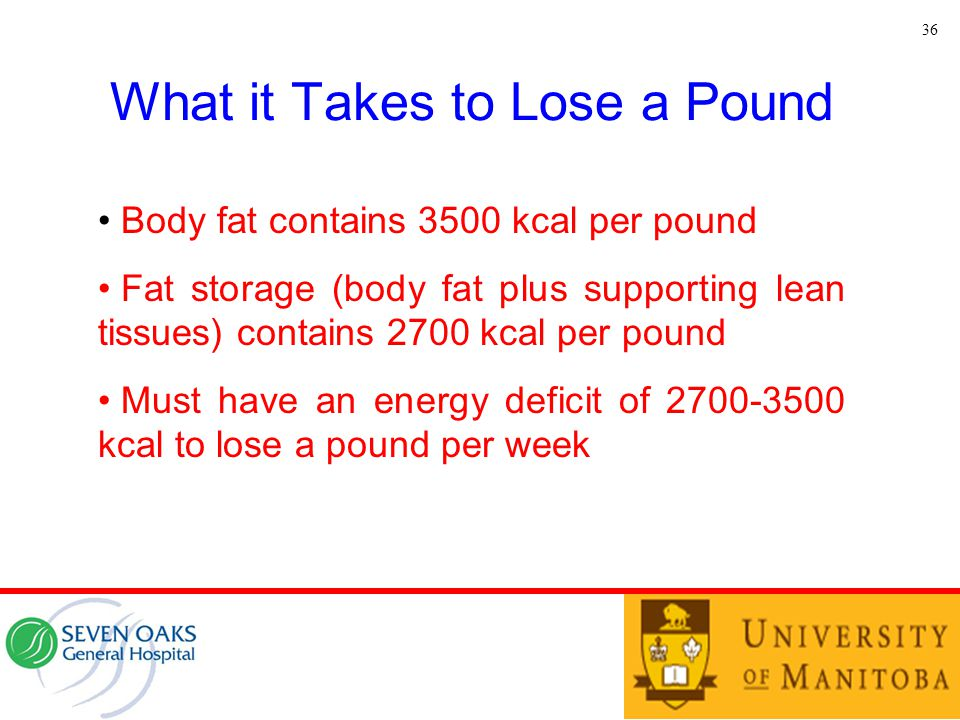 What it Takes to Lose a Pound