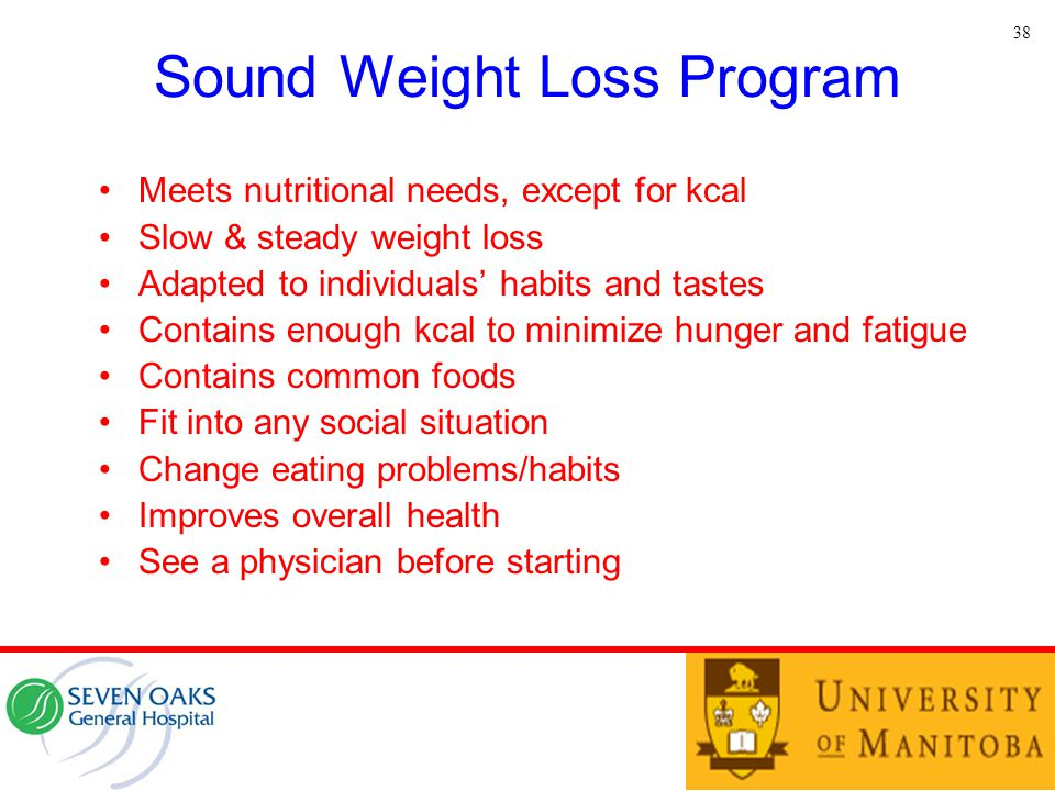 Sound Weight Loss Program
