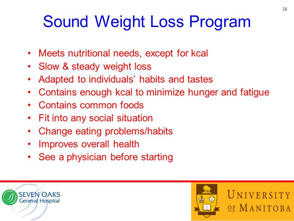 Sound Weight Loss Program