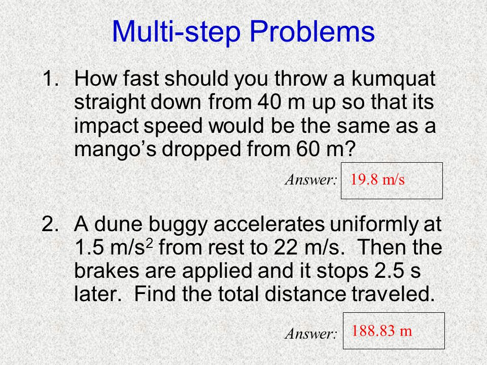 Multi-step Problems