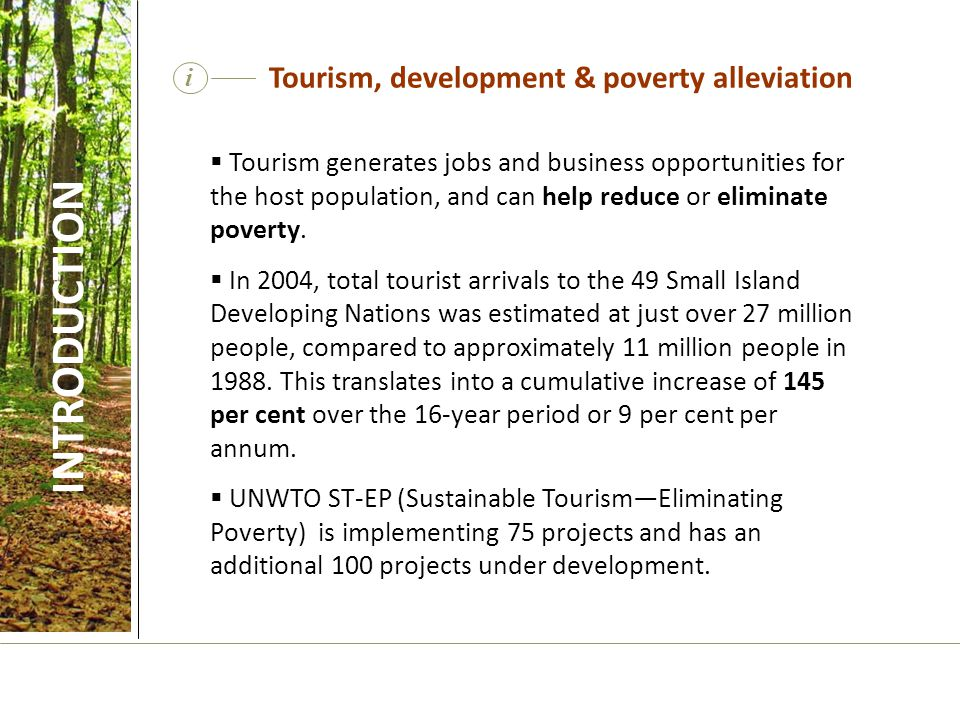 Tourism, development & poverty alleviation