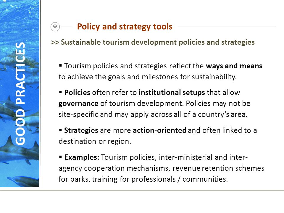 Policy and strategy tools