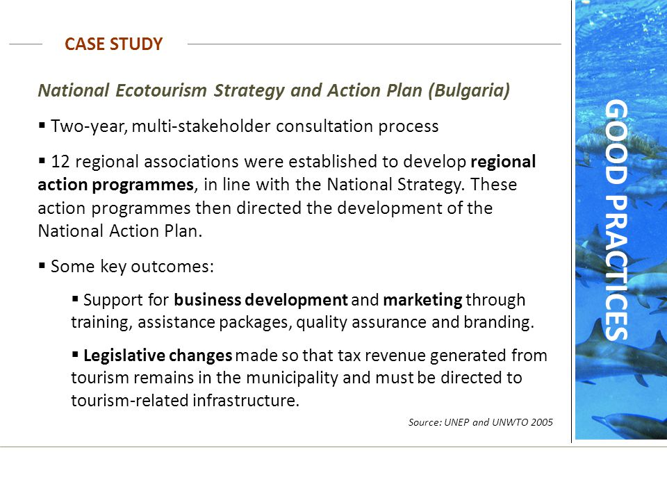 GOOD PRACTICES National Ecotourism Strategy and Action Plan (Bulgaria)
