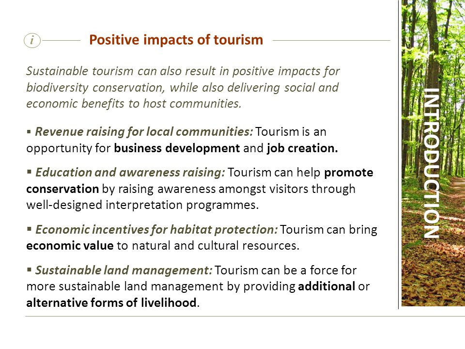Positive impacts of tourism