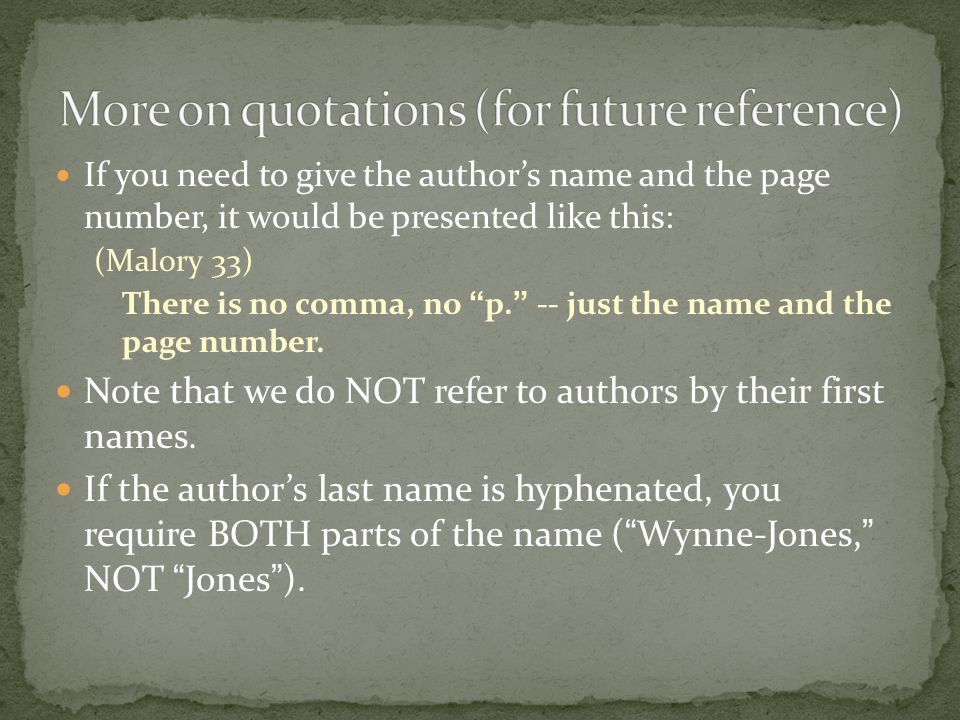 More on quotations (for future reference)