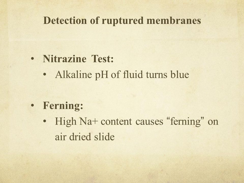 Detection of ruptured membranes
