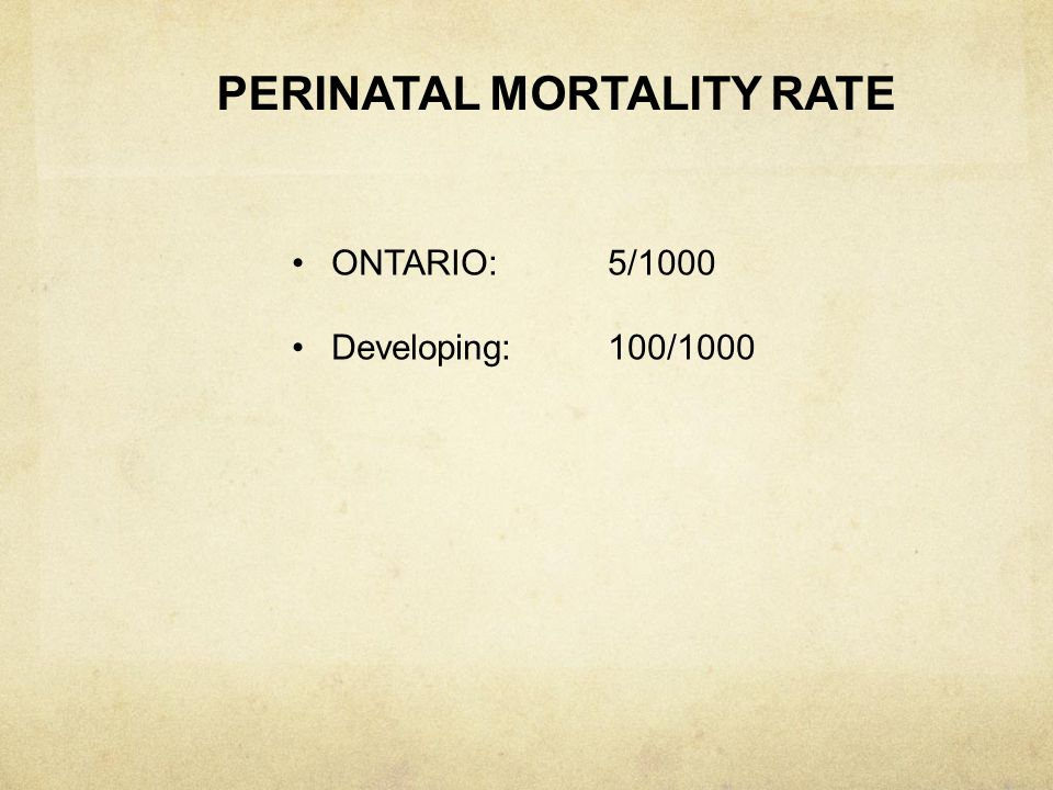 PERINATAL MORTALITY RATE
