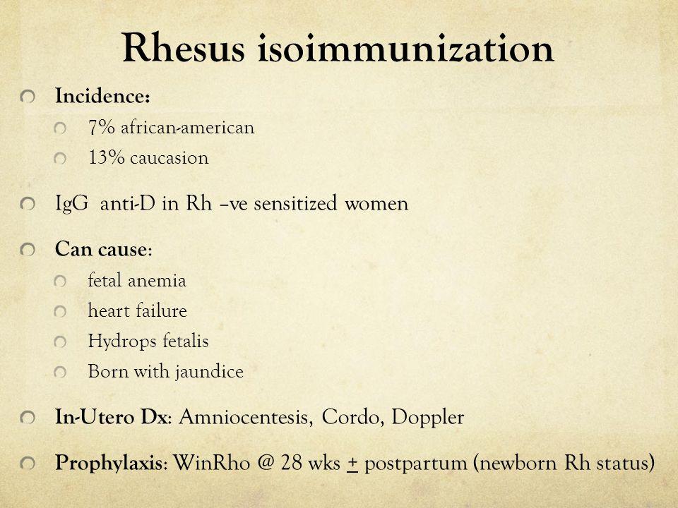 Rhesus isoimmunization