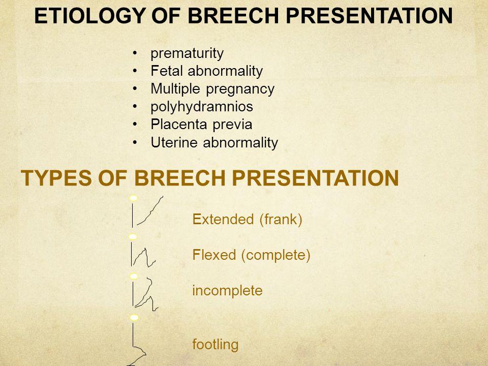 ETIOLOGY OF BREECH PRESENTATION