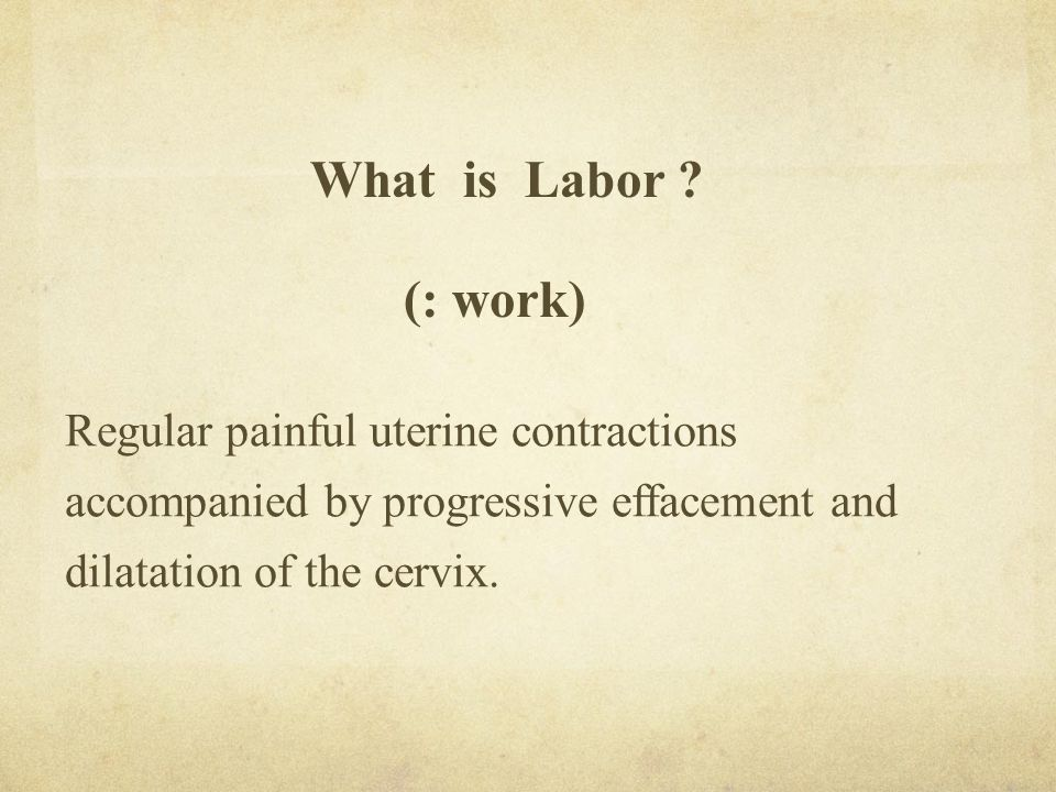 What is Labor .