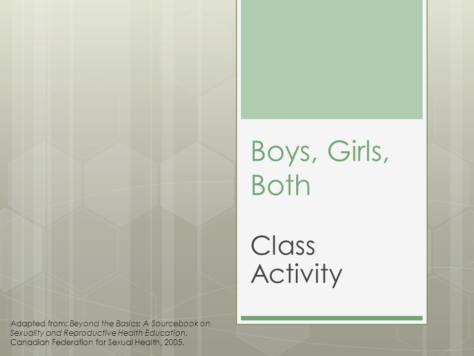 Boys, Girls, Both Class Activity