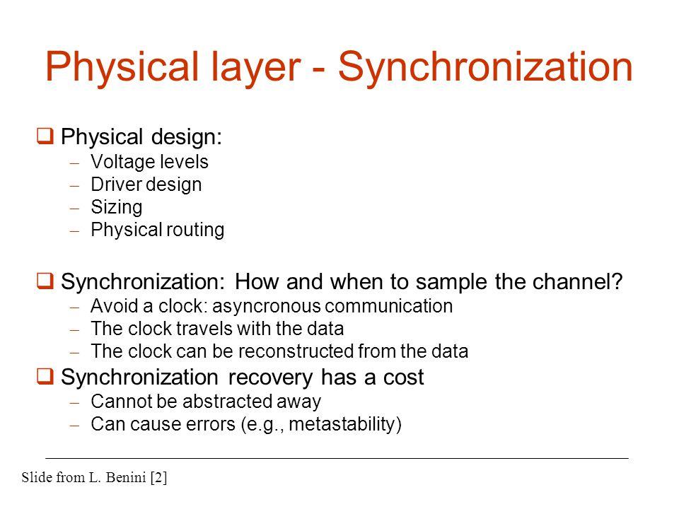 Physical layer - Synchronization