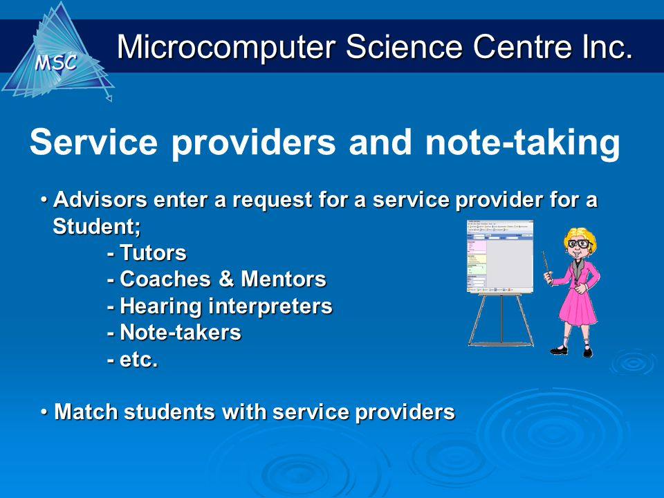 Service providers and note-taking