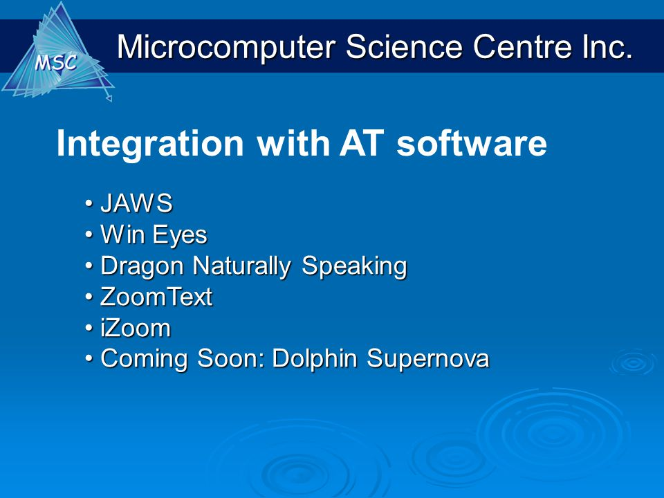 Integration with AT software