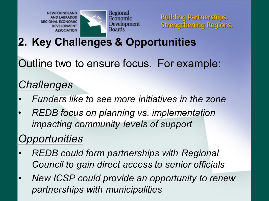 Key Challenges & Opportunities
