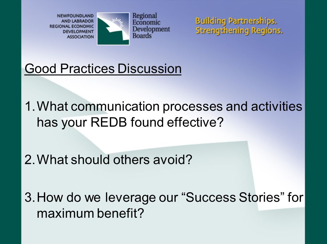 Good Practices Discussion