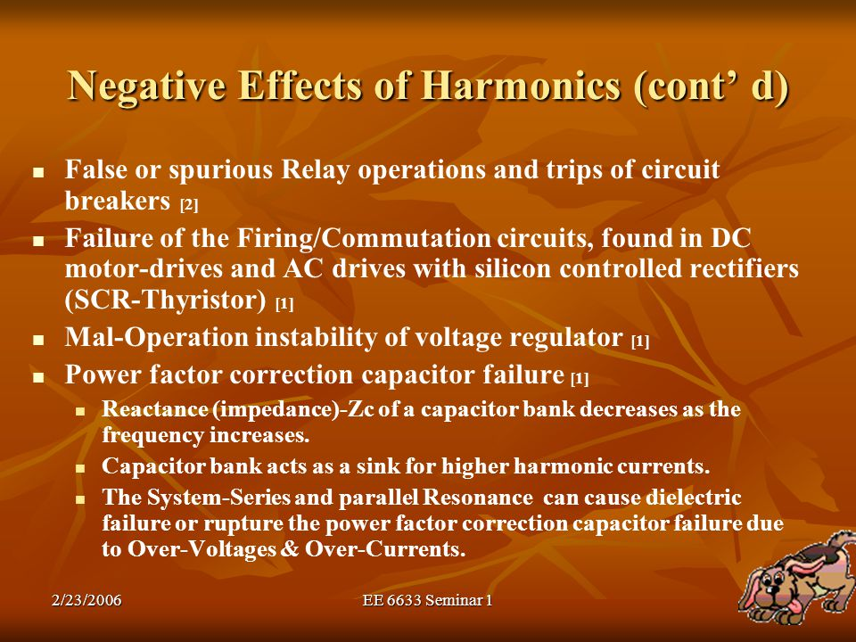 Negative Effects of Harmonics (cont' d)